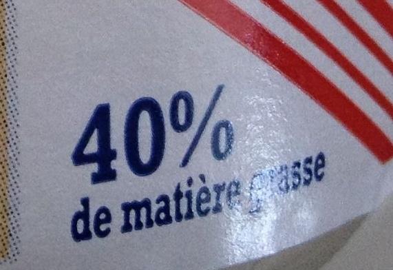 Crème fraîche d'Isigny - Voedingswaarden - fr
