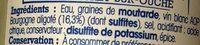 Moutarde de Bourgogne - Ingredients - fr