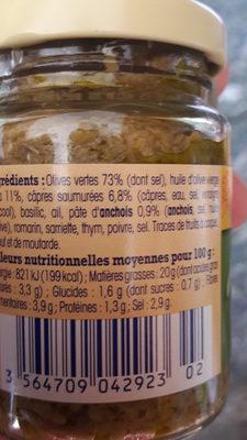 Tapenade Verte De Provence, Nos Régions Ont Du Talent - Product