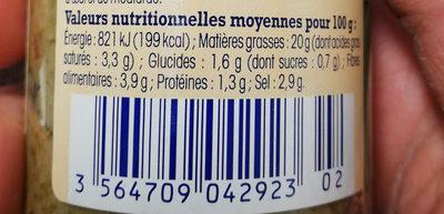 Tapenade Verte De Provence, Nos Régions Ont Du Talent - Nutrition facts