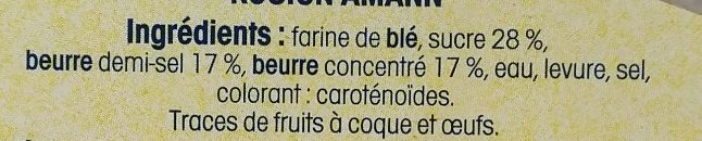Kouign-Amann - Inhaltsstoffe