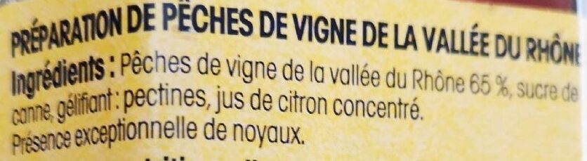 Pêches de Vigne de la Vallée du Rhône - Ingredients - fr