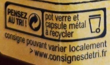 Pêches de Vigne de la Vallée du Rhône - Recycling instructions and/or packaging information - fr