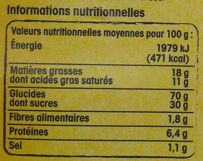Gaufres fines du Nord pur beurre - Nutrition facts - fr