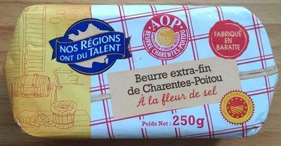 Beurre extra fin de charentes poitou à la fleur de sel - Product - fr