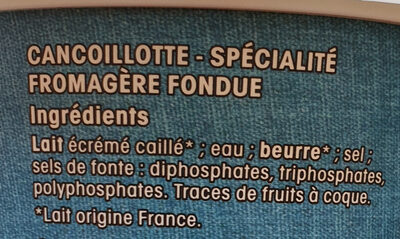 Cancoillotte - Ingredients