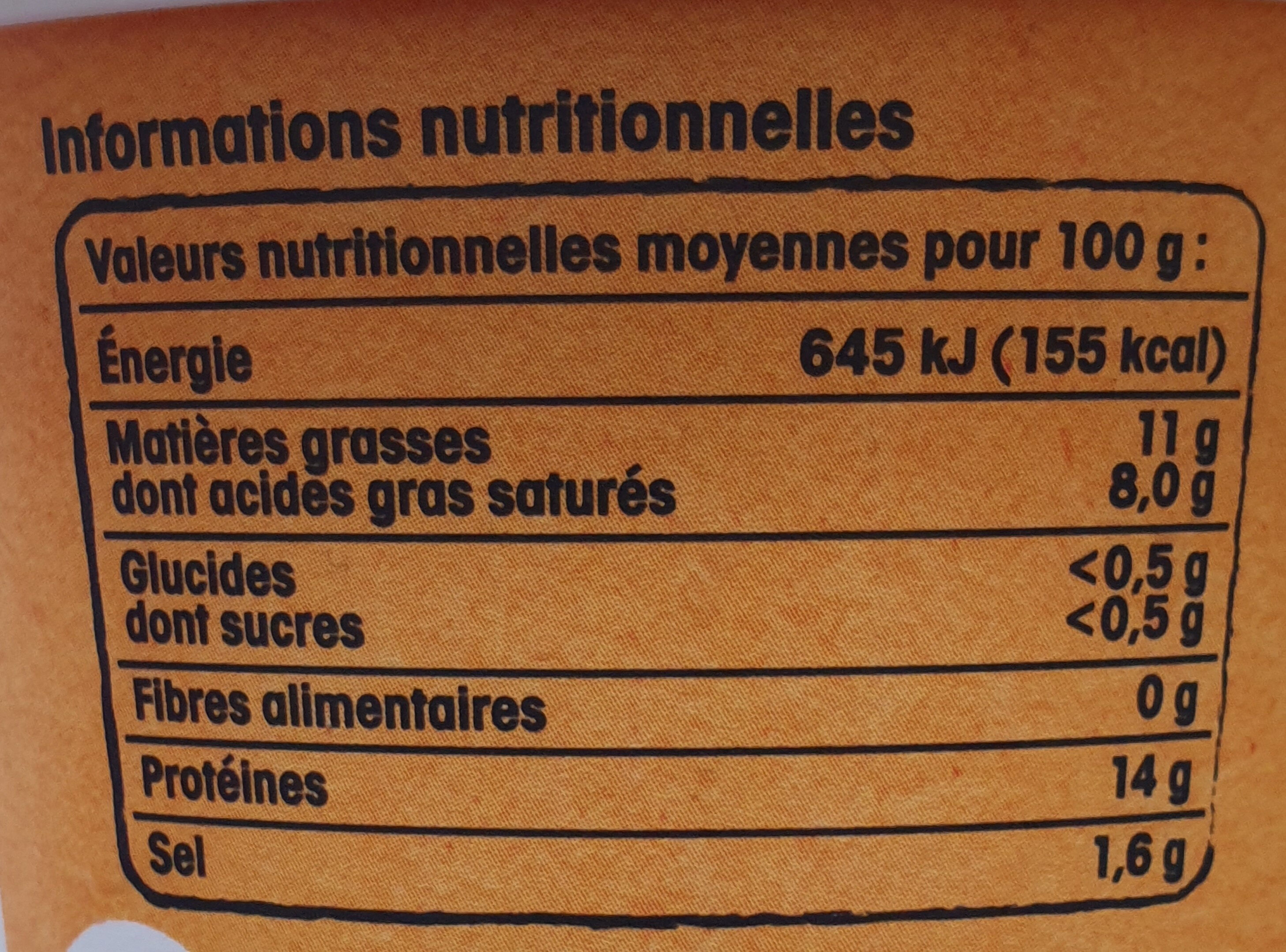 Cancoillotte - Nutrition facts