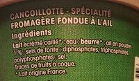 Cancoillotte - Ingrediënten - fr