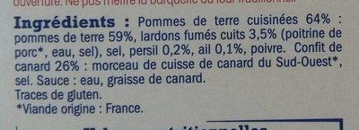 Confit de canard et ses pommes de terre persillées - Ingredients - fr