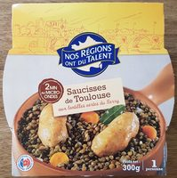 Saucisses de Toulouse aux lentilles vertes du Berry - Produit - fr