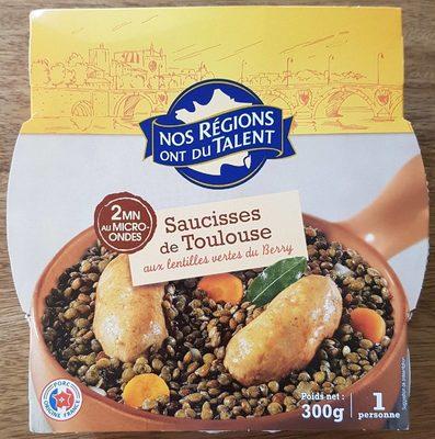 Saucisses de Toulouse aux lentilles vertes du Berry - Produit