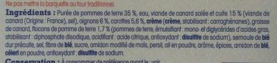 Parmentier de canard préparé en Aveyron - Ingredienti - fr