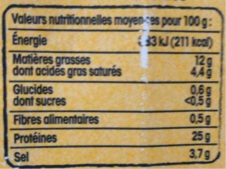 Jambon Vendée x4 Nos Régions ont du Talent - Nutrition facts - fr