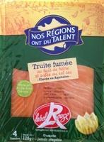 Truite fumée au bois de hêtre label Rouge (4 tranches) 120 g - Produit - fr