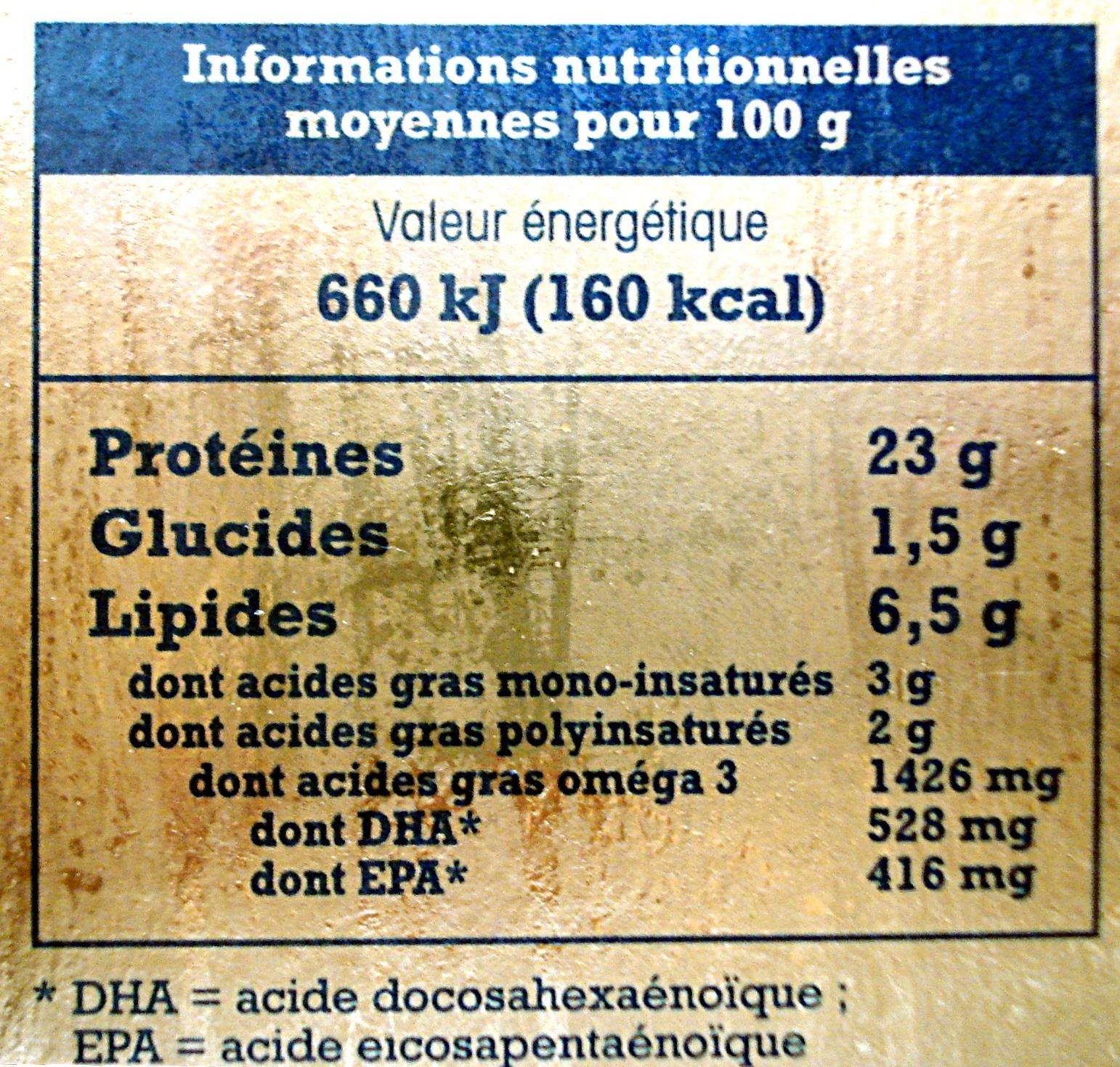 Tranches pour toasts Truite fumée d'Aquitaine - 80 g - Nutrition facts - fr