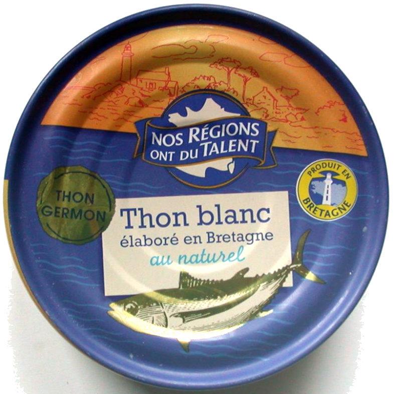 Thon Blanc au Naturel Élaboré en Bretagne - Produit
