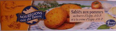 Sablés aux pommes au beurre d'Isigny - Product