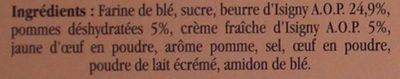 Sablés aux pommes au beurre d'Isigny - Ingredients