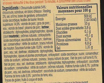 Choucroute royale alsacienne - Ingrédients