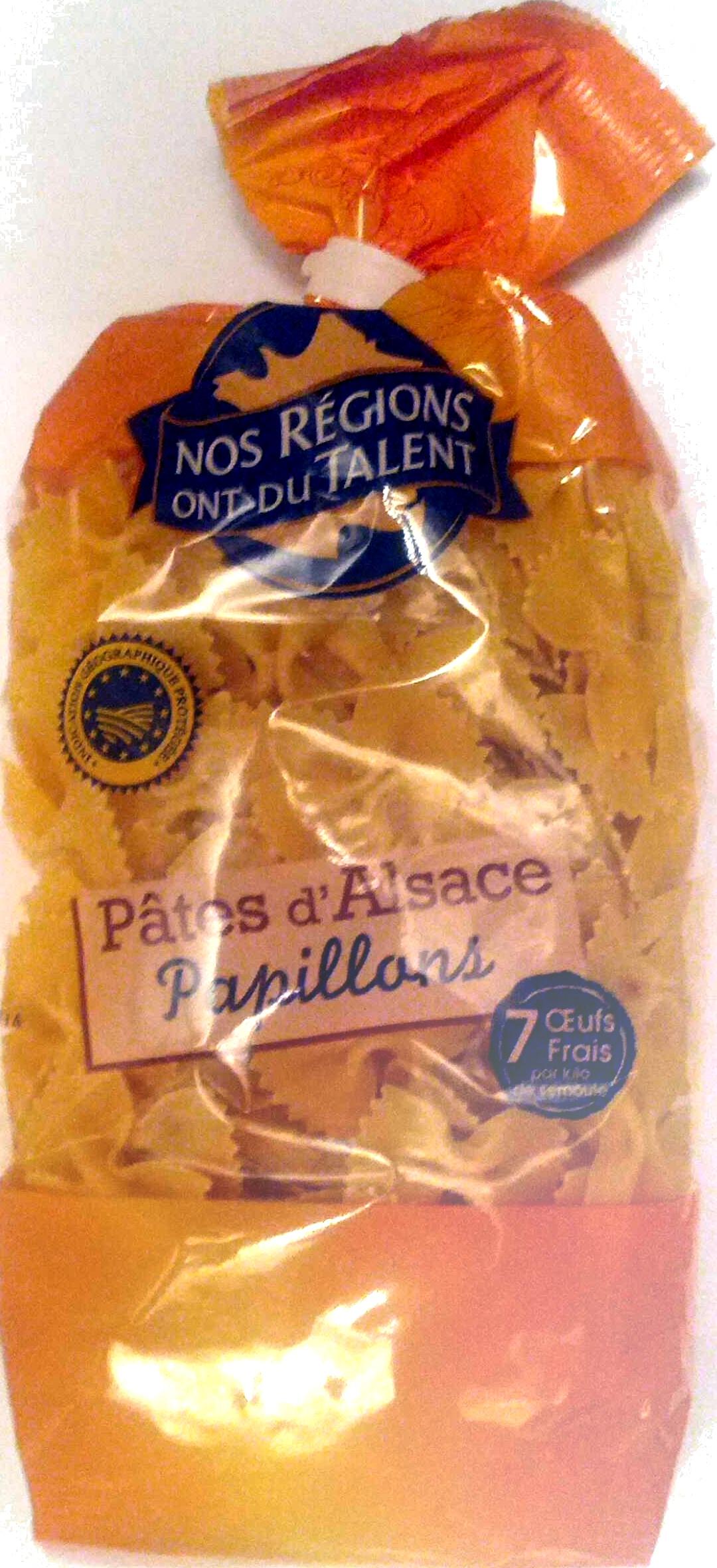 Pâtes d'Alsace Papillons (7 Œufs Frais par kilo de semoule) - Product