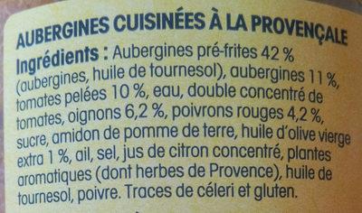Riste d'aubergine à la Provençale - Ingredients - fr