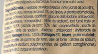 4 cervelas à l'alsacienne - Ingrédients - fr