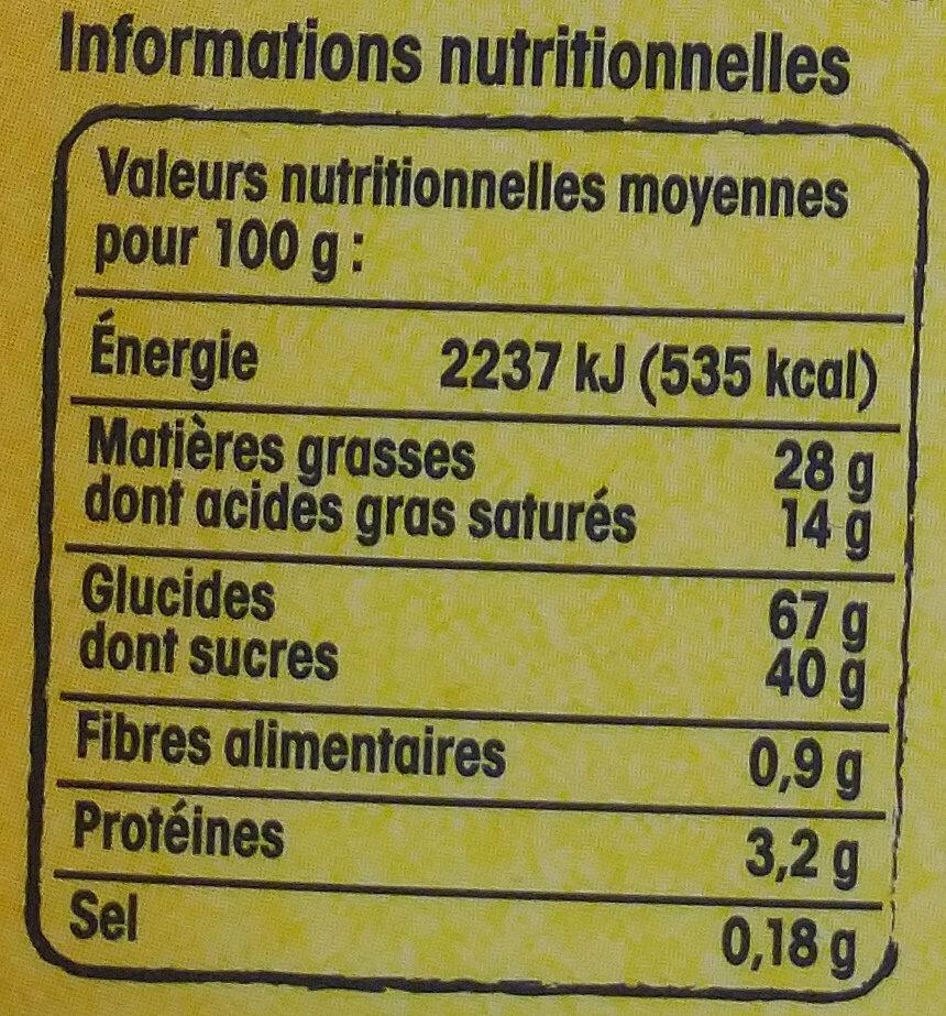 Gaufrette amusante du Nord parfum vanille - Nutrition facts - fr