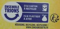 Gaufrette amusante du Nord parfum vanille - Recycling instructions and/or packaging information - fr