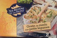 Gratin Merlu petit legume Nos Régions ont du Talent - Product - fr
