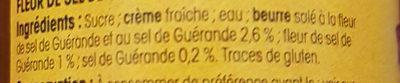 Caramel beurre salé de Guerande Nos Régions Ont Du Talent - Ingredients