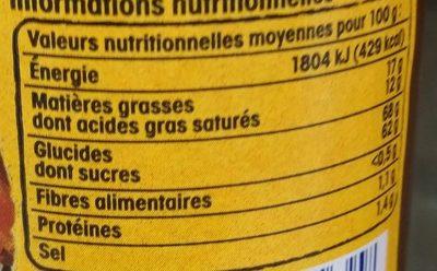 Caramel beurre salé de Guerande Nos Régions Ont Du Talent - Nutrition facts