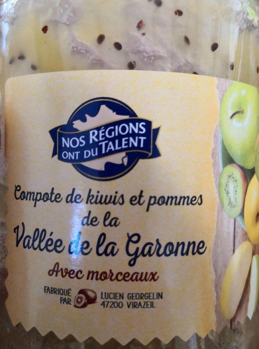 Compote de kiwis et de pommes avec morceaux - Produit - fr