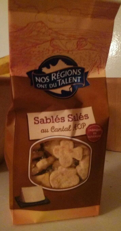 Sablés salés au Cantal AOP - Produit