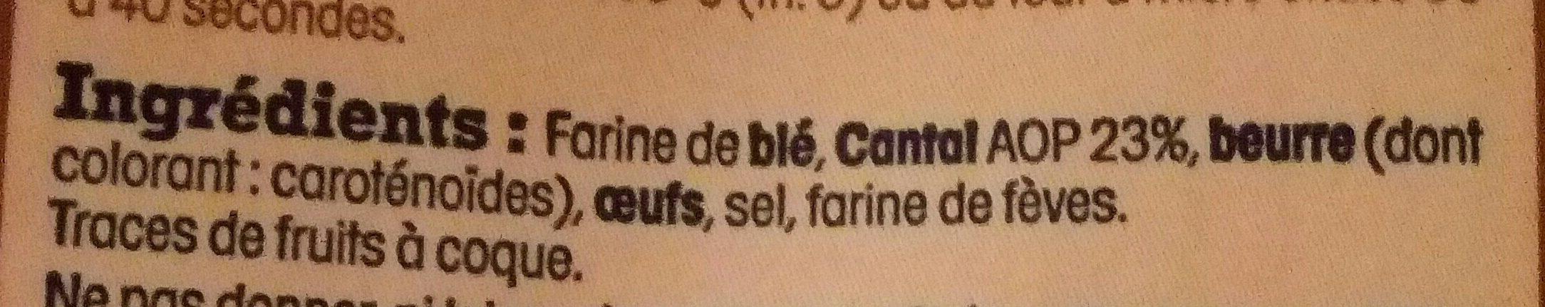 Sablés salés au Cantal AOP - Ingrédients