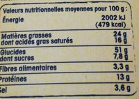 Gaufres fines du Nord 5 baies et oignon - Nutrition facts