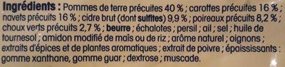 Poêlée de légumes de Normandie Cuisinée au Cidre - Ingrédients - fr