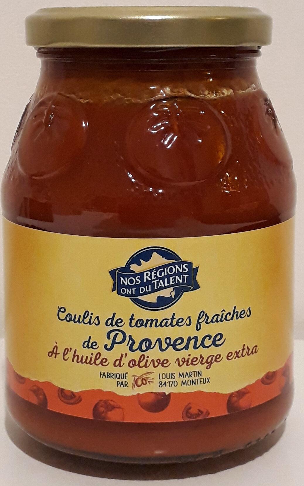 Coulis de tomates fraîches de Provence à l'huile d'olive vierge extra - Product - fr