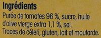 Coulis de tomates fraîches de Provence à l'huile d'olive vierge extra - Ingredients - fr
