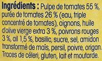 Sauce Provençale aux tomates fraîches de Provence - Ingredients - fr