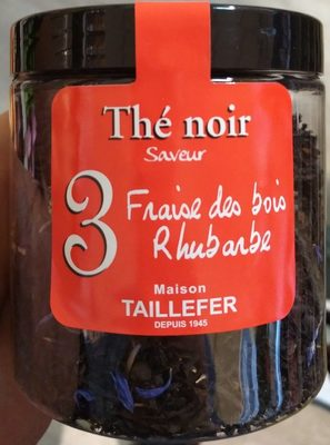 Thé noir 3 : saveur Fraise des bois Rhubarbe - Produit