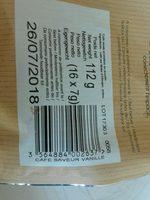 Cafe moulu saveur vanille en dosettes - Ingredients - fr