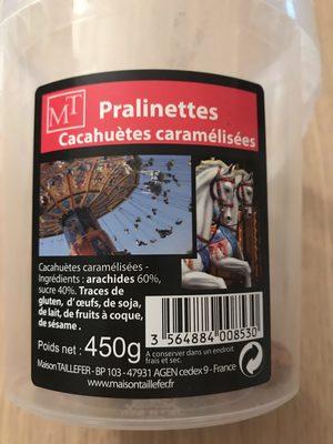 Pralinettes - Cacahuetes Caramelisées - Ingrediënten - fr