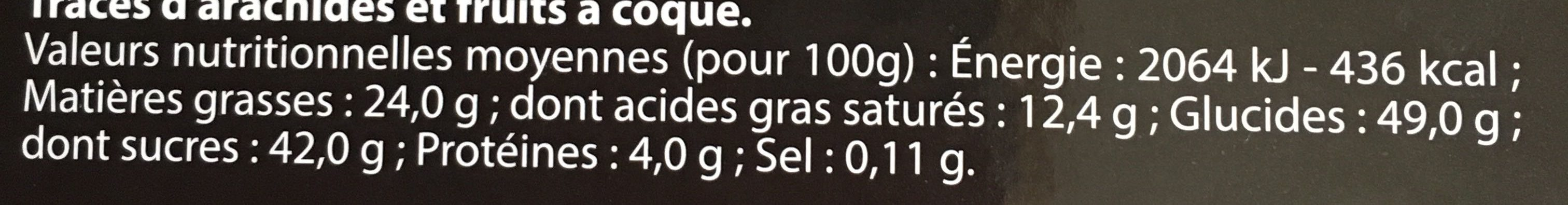 Assortiment de bouchées de chocolat - Voedingswaarden - fr