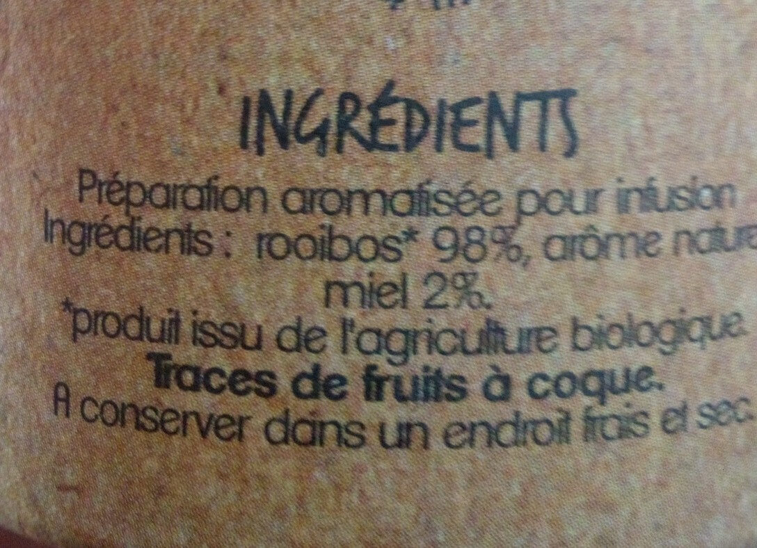 Infusion Rooibos saveur miel - Product - fr