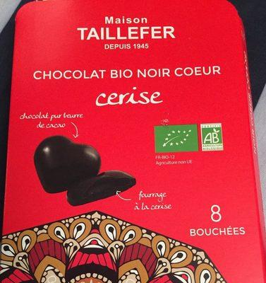 chocolat bio noir coeur cerise - Product
