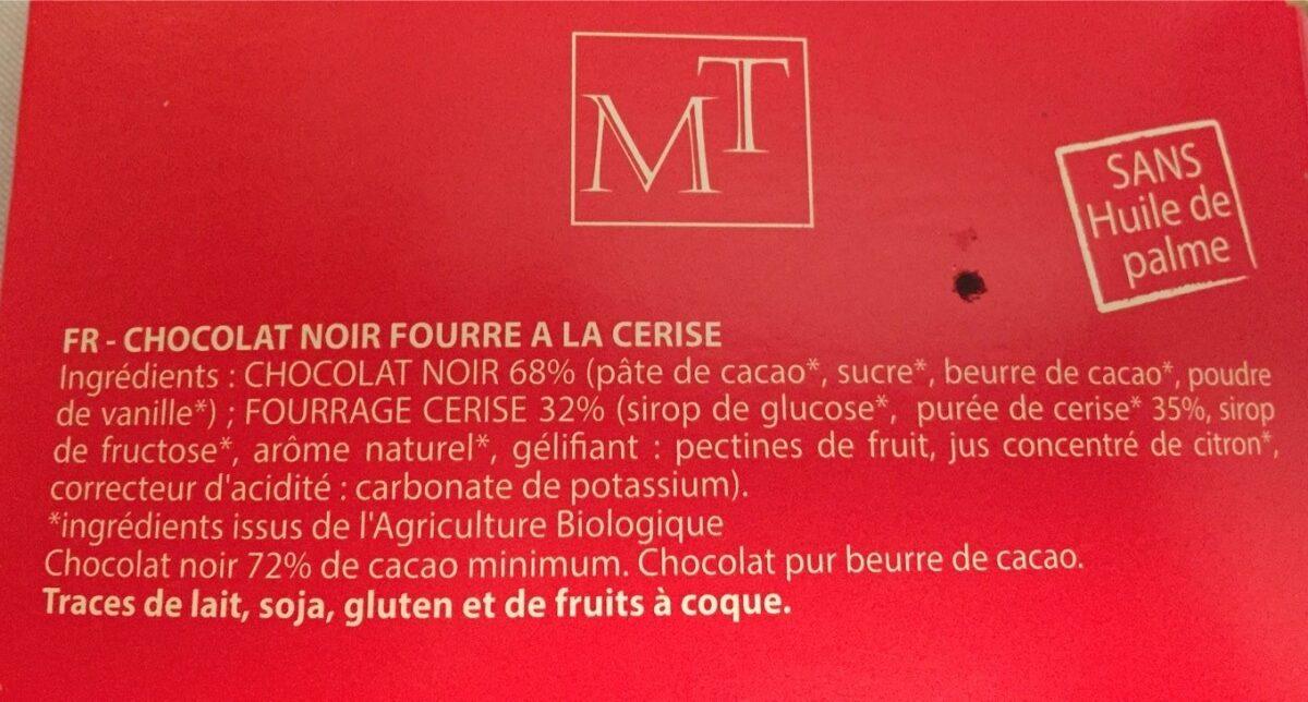chocolat bio noir coeur cerise - Ingredients