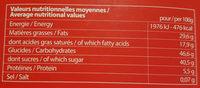 chocolat bio noir coeur cerise - Nutrition facts