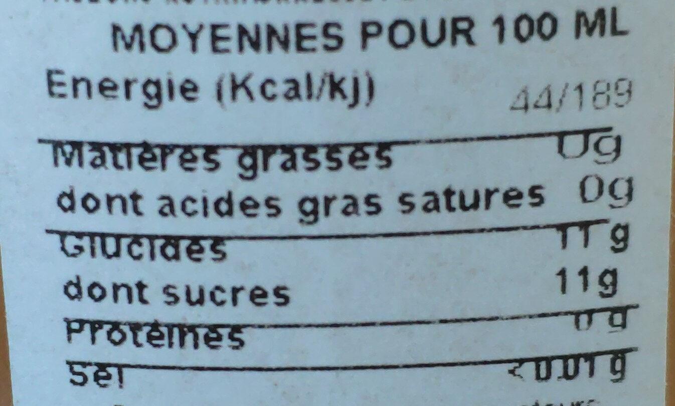 Jus De Pomme Artisanal - Informations nutritionnelles - fr