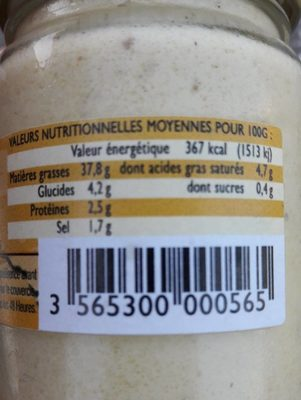 Aioli a L'huile d'olive - Nutrition facts - fr