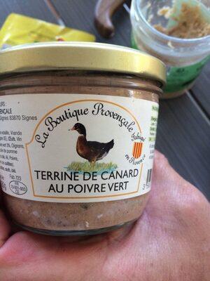 Terrine canard au poivre vert - Produit